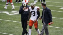 Browns' Beckham, Washington's Collins leave with injuries