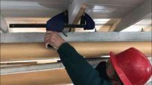 Vikings-era construction: Parks Canada reinforcing beams in S.S. Klondike