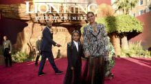 Beyoncé y Blue Ivy combinan sus looks en la premiere mundial de 'El Rey León'