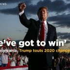 Trump gloats about repeating in 2020, takes swipes at Biden