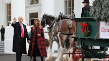 POTUS and FLOTUS welcome the 2018 White House Christmas tree