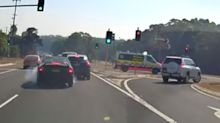 Drivers' 'bloody dangerous' act to beat traffic ends in accident
