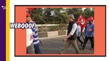 Image of Ravish Kumar From 2018 Kisan March Rally Shared as Recent