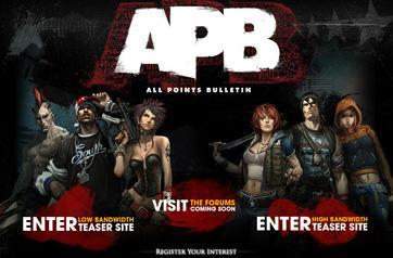New official website for All Points Bulletin opens up