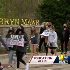 Students walk out in support of former Bryn Mawr teacher