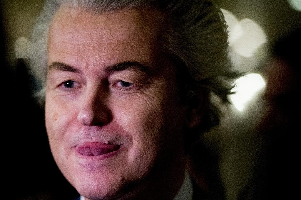 Geert Wilders still had reason to crow, boosting his overall number of seats (AFP Photo/Remko de Waal)