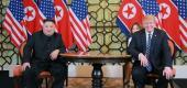 Kim Jong Un and President Trump. (AFP)
