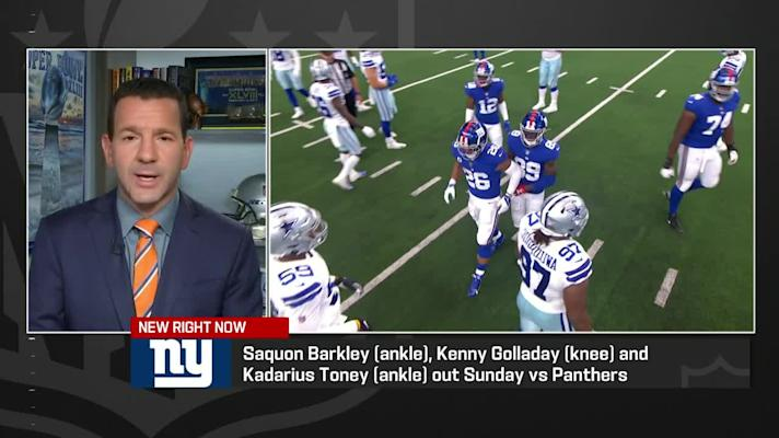 Rapoport lists Giants players ruled out vs. Panthers