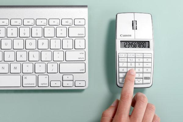 Canon launches X Mark I Mouse Lite, pairs ten-digit calculator and Bluetooth laser mouse (video)