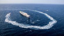 Irán lanza misiles a portaaviones falso; EEUU alerta bases