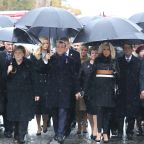 Trump, Putin absent for leaders' symbolic walk in Paris rain