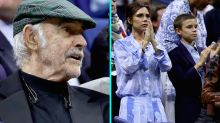 Sean Connery Makes a Rare Public Appearance at U.S. Open, Victoria Beckham Attends With Son Romeo