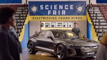 Audi E-Tron GT concept and Spider-Man co-star in 'Science Fair'
