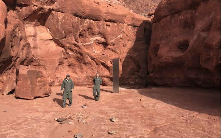 Metal monolith discovered deep in Utah desert leaves officials baffled