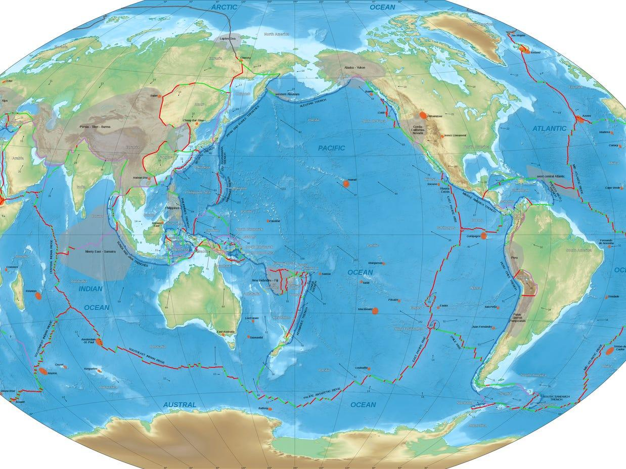 Watch the last billion years of Earth's tectonic plate movement in just 40 seconds - Yahoo News