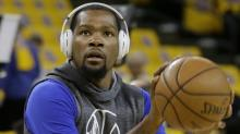 Kevin Durant doesn't plan on leaving Golden State, and Oklahoma City has heard that one before