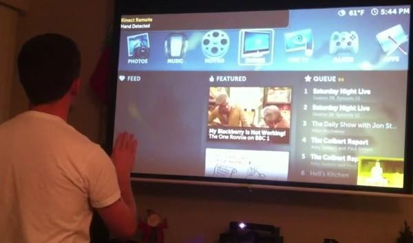 KinEmote: Kinect gesture control for Boxee and XBMC media centers now available (video)