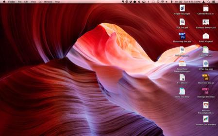 AppleScript Desktop Icon Race