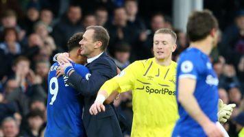 Calvert-Lewin dedicates Everton double to Ferguson