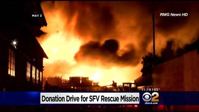 Dodgers Hold Collection Drive For Fire Damaged San Fernando Valley Rescue Mission