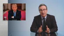 John Oliver calls Trump 'shockingly reckless' for retweeting false coronavirus information