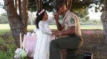 Marine dad surprised with magical tea party photo shoot with 4-year-old daughter