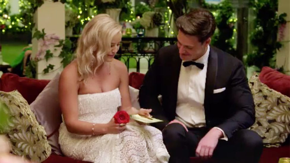 Matt Agnew gives Elly the golden ticket on The Bachelor