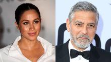 George Clooney dice que Meghan Markle está siendo acosada como Lady Di