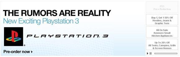 Rumorang: Retailer promotes 'new exciting PlayStation 3'