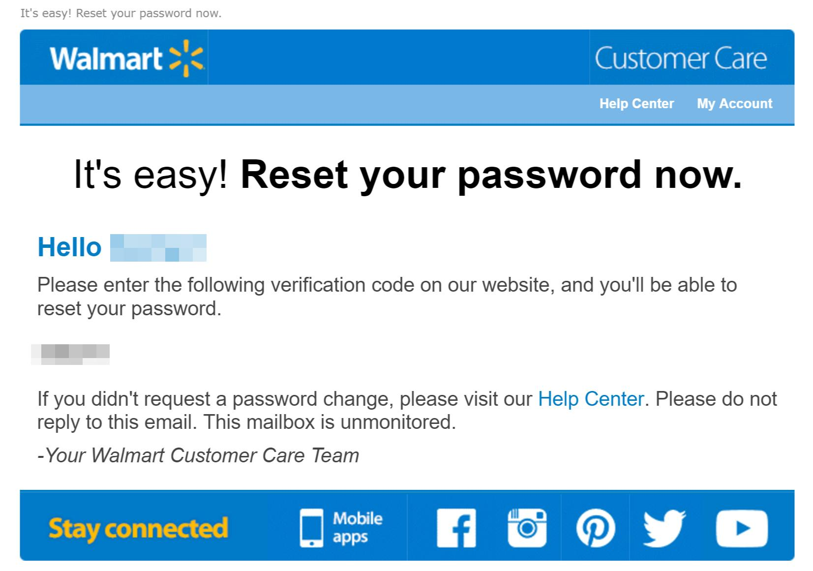 someone is trying to steal accounts from walmart customers