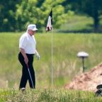 Trump defends playing golf in rambling Twitter rant as US coronavirus death toll nears 100,000