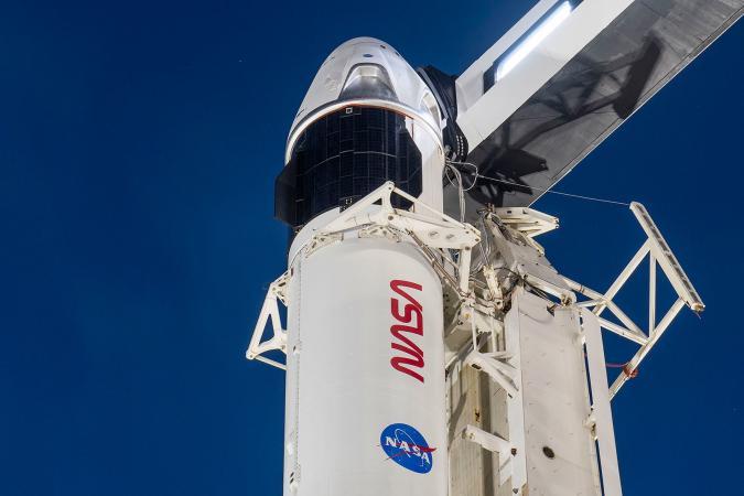 SpaceX Crew-1 Dragon capsule aboard a Falcon 9 rocket