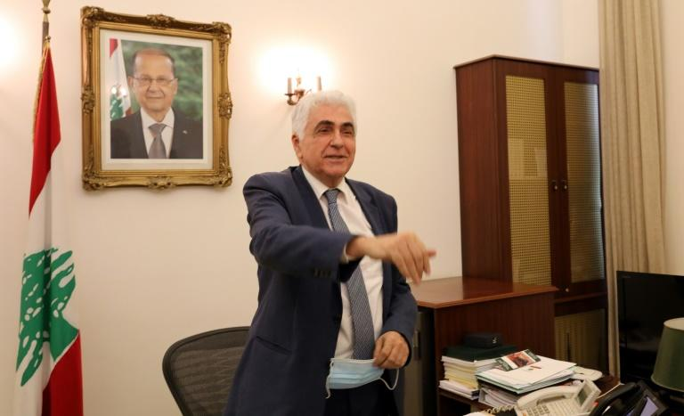 Hitti announced his resignation over to the government's mishandling of the country's worst crisis in decades, as premier Hasan Diab's under-fire cabinet struggles to secure international financial support (AFP Photo/ANWAR AMRO)