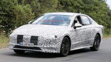 2020 Hyundai Sonata spied hustling around the Nurburgring