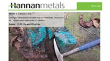Hannan Samples Extensive New Zone of High-Grade Copper and Silver Over 16 Kilometres at Tabalosos, Peru