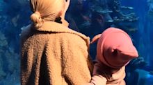 Kylie Jenner and Travis Scott Spend Some Quality Time with Daughter Stormi at the Aquarium