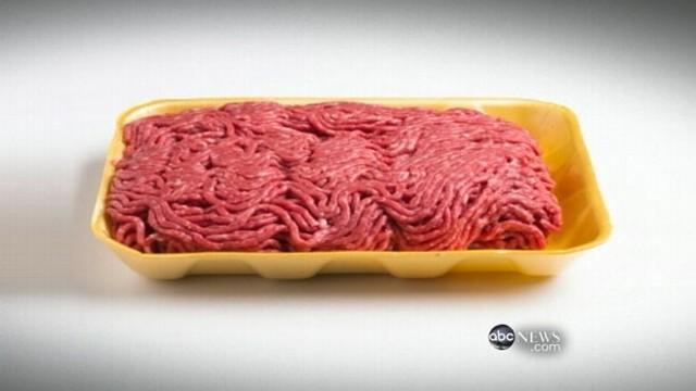 'Pink Slime' Labels on Ground Beef Packaging