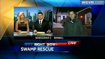 Teens rescued after spending hours in cold swamp