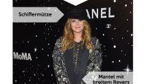 Look des Tages: Drew Barrymore in Schwarz-Weiß-Muster