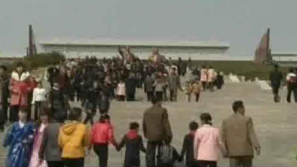 North Koreans mark key holiday, oblivious to tensions