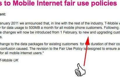 T-Mobile UK backs down a bit, limits 500MB fair use policy to new and upgrading customers