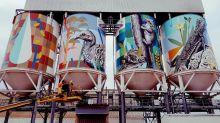 Le più belle opere realizzate sugli enormi silo nel Paese dei Canguri