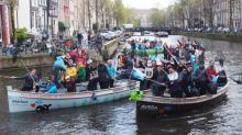【旅遊執垃圾】坐遊船遊阿姆斯特丹新玩法 打撈垃圾?