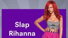 Snapchat ad asked would you rather 'Slap Rihanna' or 'Punch Chris Brown'