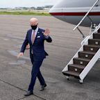 Fact check: After deplaning in Tampa, Joe Biden waved to firefighters in a field