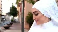 Il sorriso della sposa prima di essere travolta dall'onda d'urto in Libano