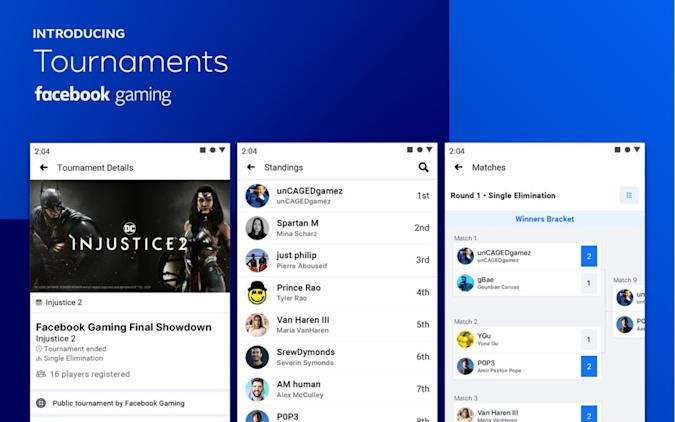 Facebook Gaming opens early access to its new Tournaments feature.
