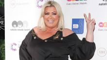 Gemma Collins narrowly avoids falling in the sea in bottle cap challenge fail
