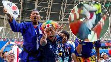 Fans' wonderful gesture goes viral after Japan upset