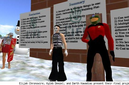Ithaca College hosts panels and posters on MMO topics in Second Life